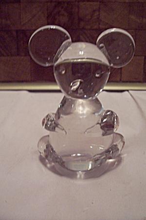 Fenton Crystal Hand Blown Art Glass Bear Paperweight (Image1)