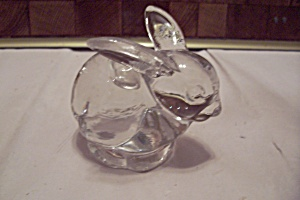Crystal Art Glass Rabbit Paperweight