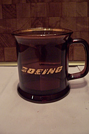 Boeing Advertising Amber Glass 8-sided Mug