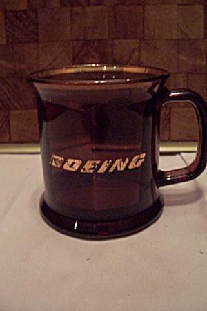 Boeing Advertising Amber Glass 8-Sided Mug (Image1)