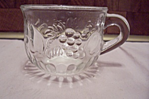 Crystal Glass Fruit Pattern Punch Cup