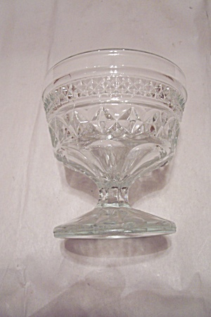Fire King/anchor Hocking Wexford Crystal Glass Sherbet