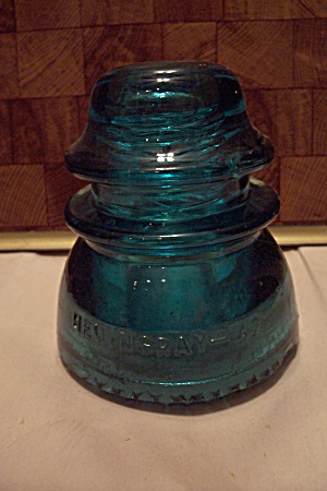 Hemingray #42 Aqua Glass Insulator (Image1)