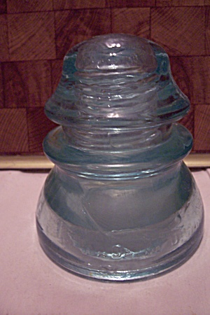 Whitall Tatum No. 1 Light Aqua Glass Insulator (Image1)