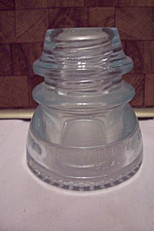 Hemingray #42 Clear But Green Tinted Glass Insulator (Image1)