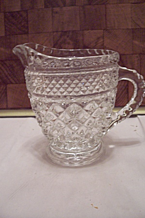 Fire King/anchor Hocking Wexford Crystal Glass Creamer