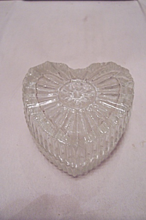 Crystal Glass Heart Shaped Lidded Box