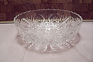 Anchor Hocking Crystal Pattern Glass Serving Bowl