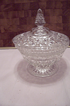 Fire King/anchor Hocking Wexford Crystal Candy Dish