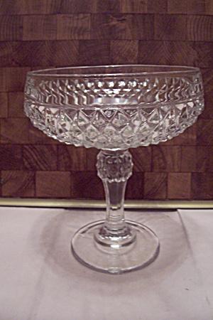 Crystal Glass Diamond Pattern Comport (Image1)