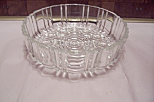 Crystal Pattern Glass Dish