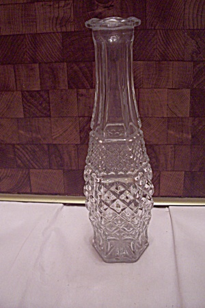 Fire King/anchor Hocking Wexford Crystal Glass Bud Vase
