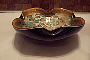 Murano Cased Art Glass Folded Bowl (Image1)