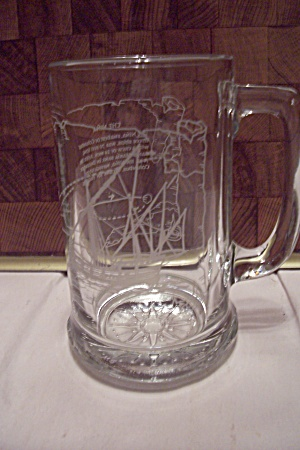 "Crystal Glass ""Nina"" Sailing Ship Beer Mug (Image1)"