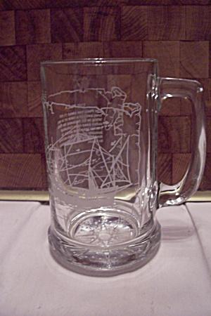 "Crystal Glass ""Pinta"" Sailing Ship Beer Mug (Image1)"
