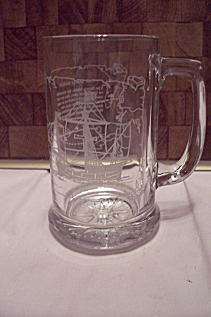 Crystal Glass Santa Maria Sailing Ship Beer Mug (Image1)