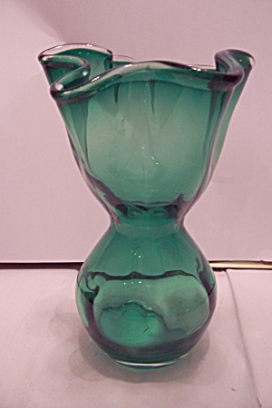 Green Cased Art Glass Vase