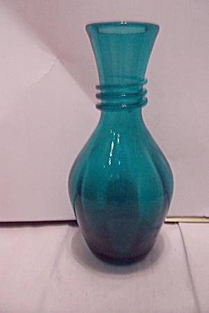 Bohemian Greenish-Blue Art Glass Vase (Image1)