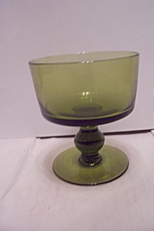 Avocado Green Glass Sherbet (Image1)