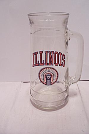 Illinois Souvenir Crystal Glass Beer Mug (Image1)