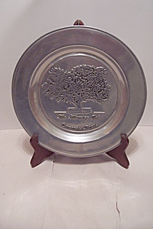 The Fleming Oak Tree Commemorative Pewter Plate