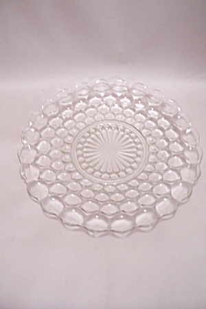 Fire King/ah Bubble Pattern Crystal Glass Dinner Plate
