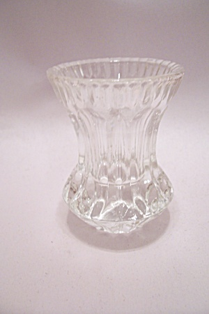 Brilliant Crystal Pattern Glass Toothpick Holder