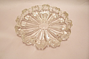 Crystal Pattern Glass 12-sided Ash Tray