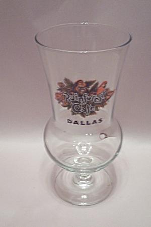 Rainforest Cafe Dallas Crystal Pedestal Drink Glass (Image1)