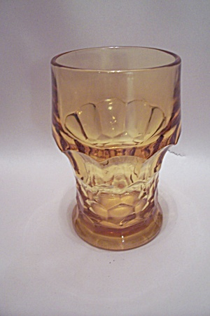 Fire King/anchor Hocking Amber Glass Water Glass