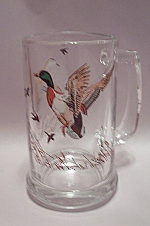 Mallard Duck Decorated Crystal Glass Beer Mug (Image1)