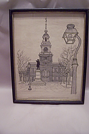 Independence Hall Framed Drawing Print By E. F. Sanzari (Image1)