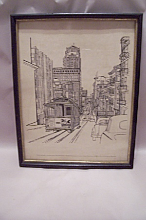 San Francisco, Ca Framed Drawing Print By E. F. Sanzari