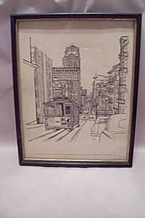 San Francisco, CA Framed Drawing Print By E. F. Sanzari (Image1)