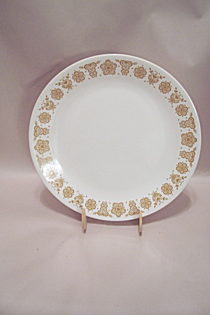 Corning Corelle Brown Trimmed Glass Dinner Plate (Image1)