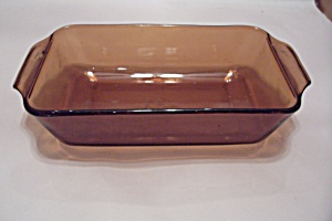 Fire King/Anchor Hocking Dark Amber Glass Loaf Pan (Image1)