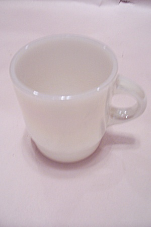 Fire King/anchor Hocking Opalescent Milk Glass Mug