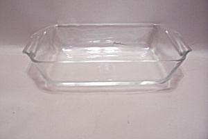 Fire King/anchor Hocking Crystal Glass Loaf Dish