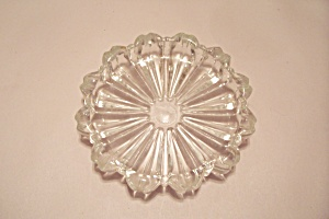 Crystal Starburst Pattern Glass Ash Tray