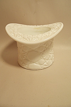 Daisy & Button Milk Glass Hat Cache Pot/Vase (Image1)