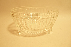 Small 3-Footed Crystal Pattern Glass Bowl (Image1)