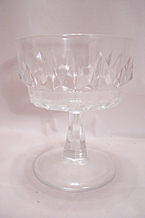 Crystal Pattern Glass Sherbet
