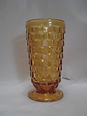Indiana Glass Amber Southhall Pattern Pedestal Tumbler (Image1)