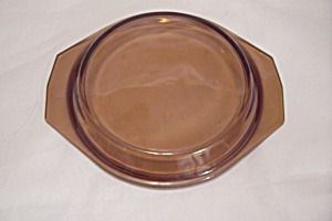 Fire King/anchor Hocking Amber Glass Casserole Lid