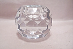 Brilliant Crystal Faceted Glass Round Candle Holder (Image1)