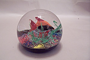 Murano Art Glass Tropical Fish Paperweight