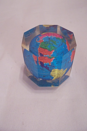Hard Plastic Composite 8-sided Globe Paperweight