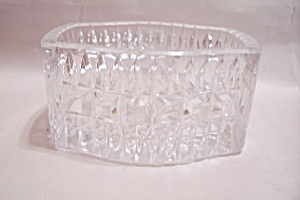 Crystal Pattern Glass Oblong Vanity Cache Box
