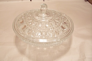 Crystal Button Pattern Covered Candy Dish