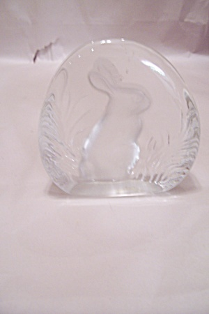 Crystal Aer Glass Rabbit Image